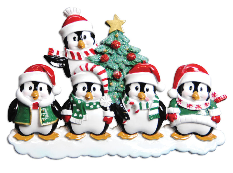 WINTER PENGUIN FAMILY OF 9