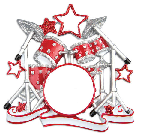 PERSONALIZED CHRISTMAS ORNAMENT HOBBIES/ACTIVITIES-DRUM SET