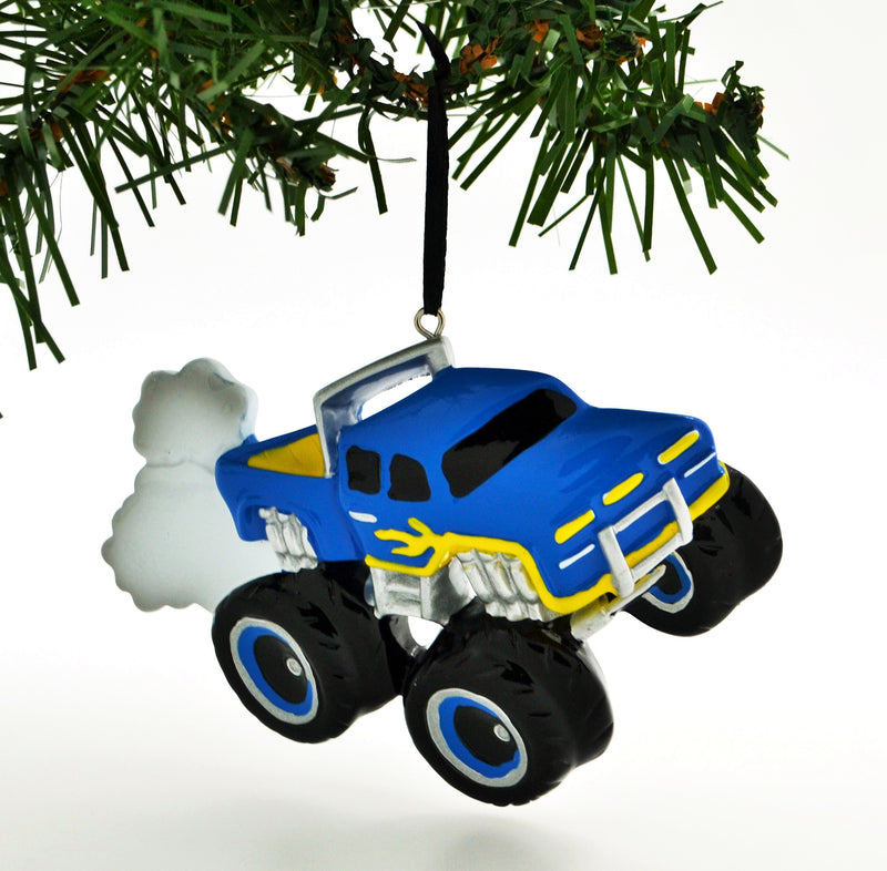 Personalized Christmas Ornament Power Wheels Monster Machines Rally Monster Truck Blue/Personalized by Santa/Monster Truck Christmas Ornament