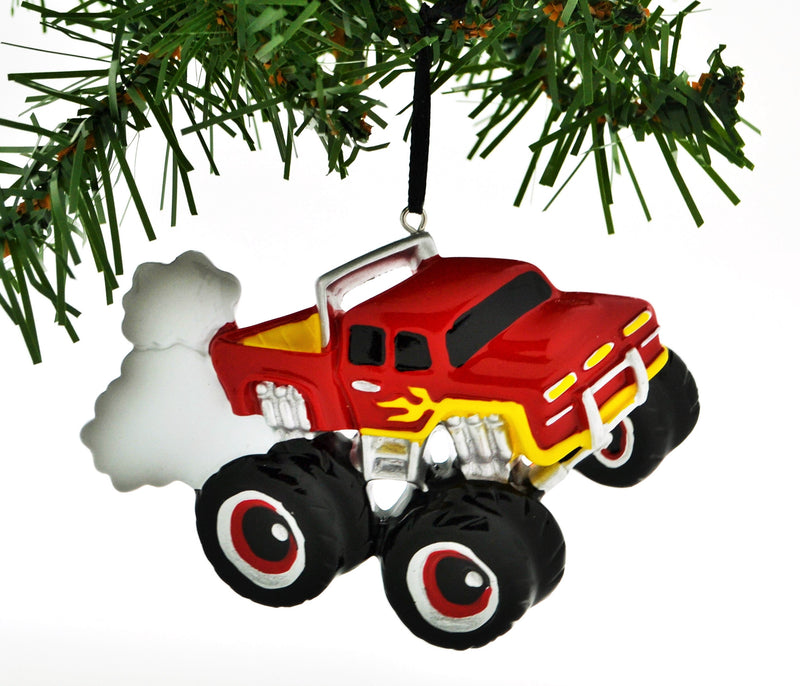Personalized Christmas Ornament Power Wheels Monster Machines Rally Monster Truck RED/Personalized Monster Truck Ornament/Power Wheels Truck RED/Personalized by Santa