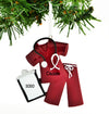 Personalized Christmas Ornament Scrubs Doctor Nurse RED/Personalized by Santa/Personalized Doctor Christmas Ornament/Personalized Nurse Christmas Ornament
