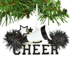 Personalized Christmas Ornament Cheerleader/Personalized by Santa/Black Cheerleader Christmas Ornament/Cheerleader Ornaments Christmas