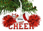 Personalized Christmas Ornament Cheerleader RED Cheer/Personalized by Santa/Cheerleader Christmas Ornament/RED Cheerleader Christmas Ornament