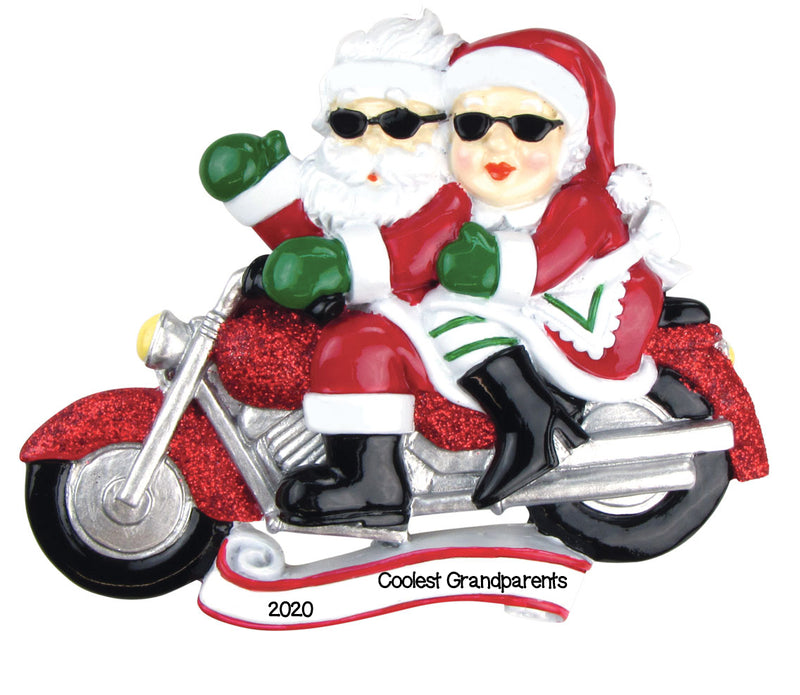 Personalized Christmas Ornaments Couples-Motorcycle MR. & MRS. Clause/Personalized by Santa/Motorcycle Ornament/Motorcycle Christmas Ornament/Santa Ornaments