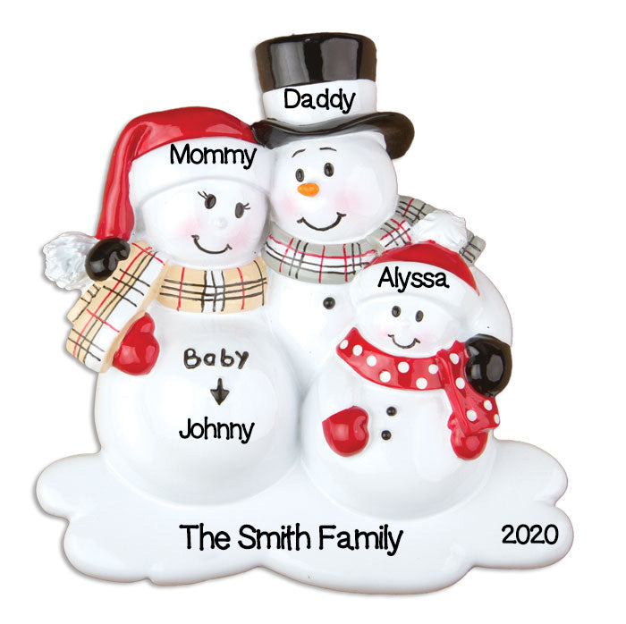 PERSONALIZED CHRISTMAS ORNAMENTS BABY'S FIRST-WE'RE EXPECTING W/1 CHILD / PERSONALIZED BY SANTA / PERSONALIZED PREGNANCY CHRISTMAS ORNAMENTS / PERSONALIZED EXPECTING BABY ORNAMENTS