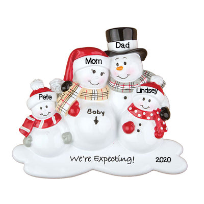 Personalized Christmas Ornaments Baby's First-We're Expecting W/2 Children/Personalized by Santa/Pregnant Ornament/Pregnant Christmas Ornament