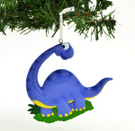 Personalized Christmas Ornament Blue Brachiosaurus Dinosaur/Personalized by Santa/Dinosaur Ornament/Dinosaur Christmas Ornaments