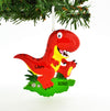 Personalized Christmas Ornament RED T-REX Tyrannosaurus REX Dinosaur/Personalized by Santa/Dinosaur Ornament/T-REX Ornament
