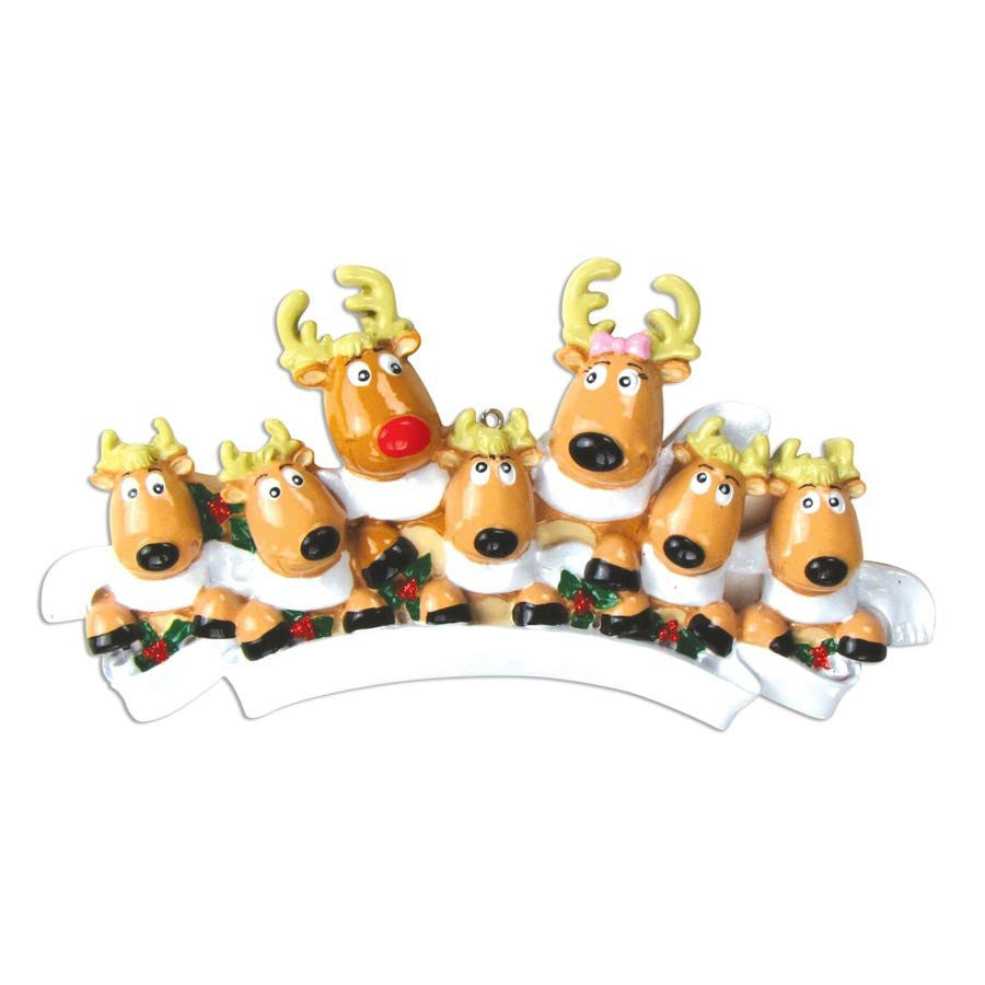 REINDEER W/SCARVES FAMILY OF 4