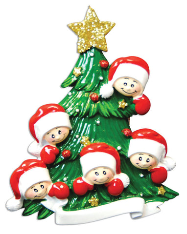 CHRISTMAS TREE W/FACES OF 5