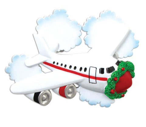 PERSONALIZED CHRISTMAS ORNAMENT TRAVEL-JETLINER