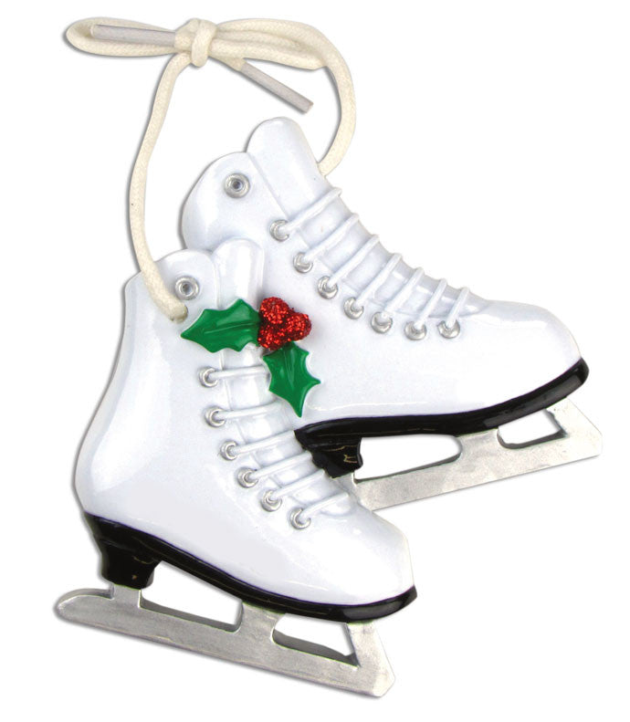 Personalized Christmas Ornaments Sports-Figure Skates, Customized Figure Skater Ornament, Figure Skate Ornament, Skate Ornaments, Personalized by Santa