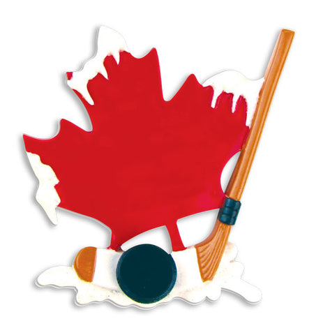 PERSONALIZED CHRISTMAS ORNAMENT SPORTS-CANADIAN HOCKEY