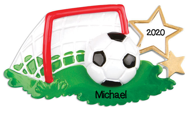 Personalized Christmas Ornaments Sports-Soccer Ball/Personalized by Santa/Soccer Ornament/Soccer Ball Ornament