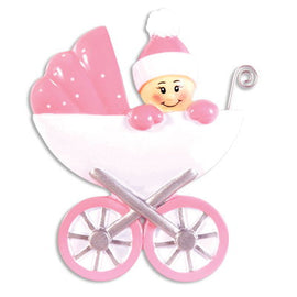 BABY IN CARRAGE-PINK