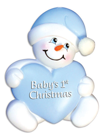 SNOWBABY WITH HEART-BLUE