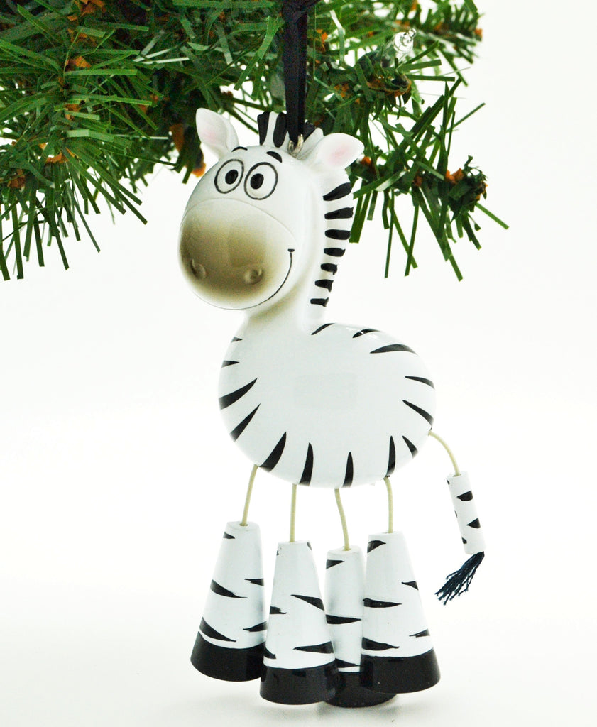 CHILD'S ZEBRA WITH DANGLE LEGS