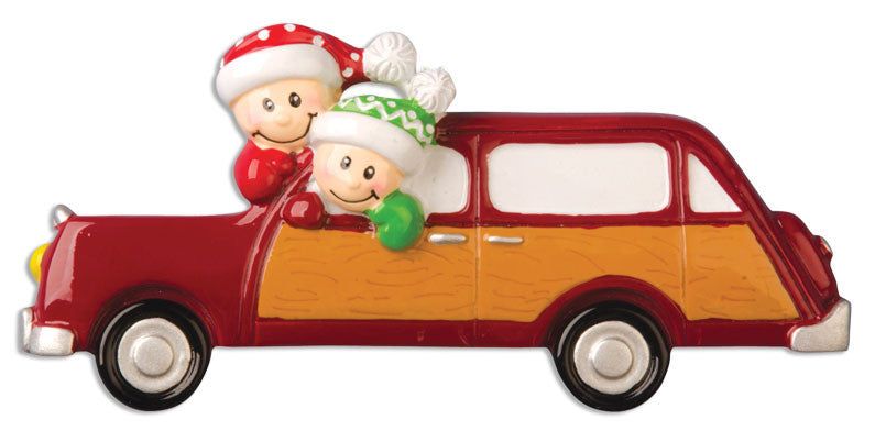 HOLIDAY CAR WITH FACES
