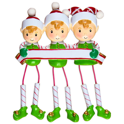 DANGLING ELF FAMILY OF 3
