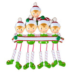 DANGLING ELF FAMILY OF 4