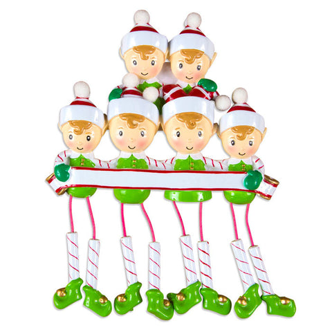DANGLING ELF FAMILY OF 6