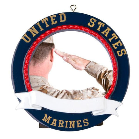 PERSONALIZED CHRISTMAS ORNAMENT PICTURE FRAME-MARINES