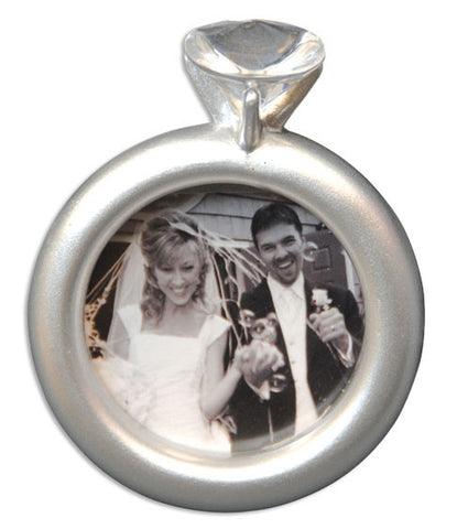 PERSONALIZED CHRISTMAS ORNAMENT PICTURE FRAME-ENGAGEMENT