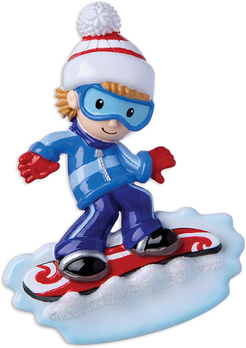 Personalized Christmas Ornament Ski Resort Snowboarding- SNOWBOARDER BOY