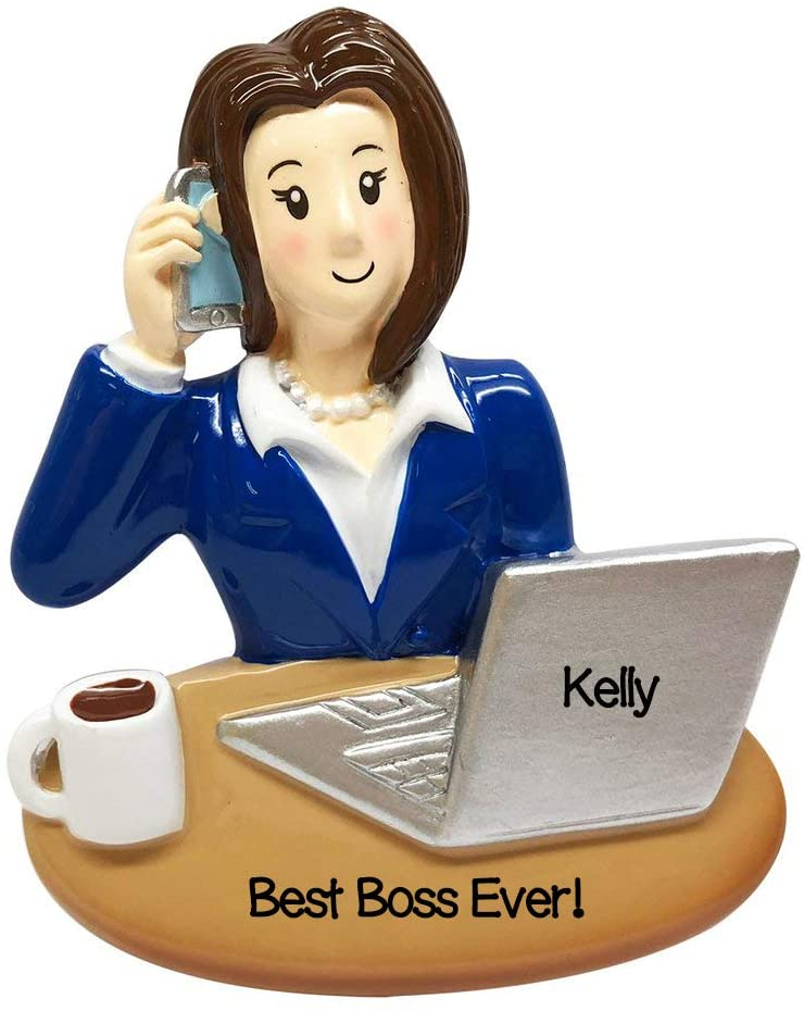 Personalized Christmas Ornament Business Woman BOSS Ornament