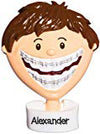 Grantwood Technology Personalized Christmas Ornaments Brace Face BOY (WE Customize for You) / Personalized by Santa/Braces Ornament/Braces Christmas Ornament (BOY)