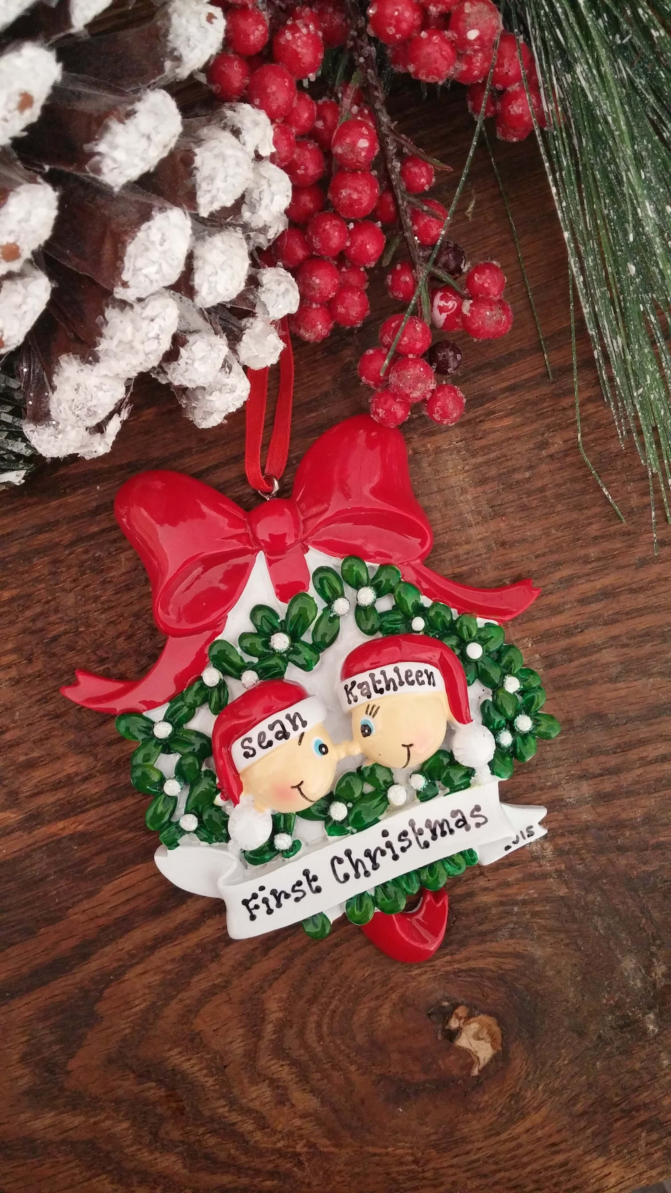 Couples christmas ornaments - Couples Christmas Ornaments