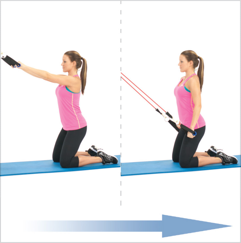 Kneeling Straight Arm Lat Extension With Exercise