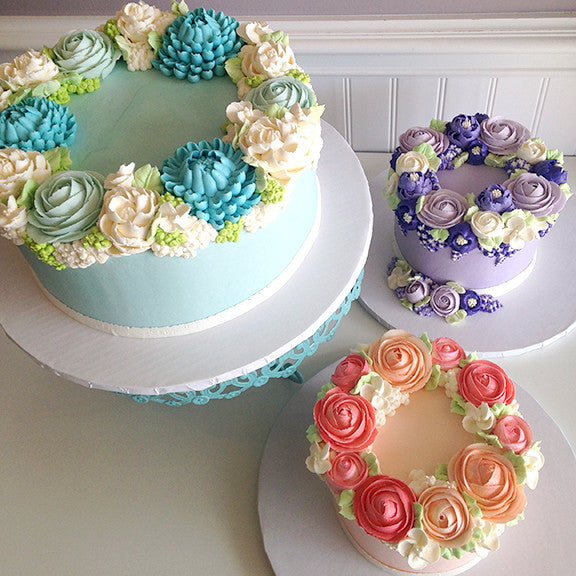 Collection 2: Floral Wreath Cakes Mini Tutorial