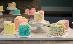 Buttercream Textured Cakes