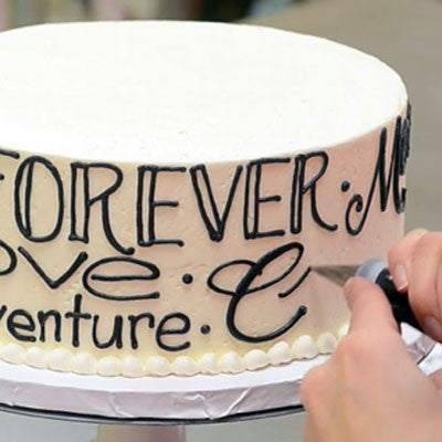 Collection 1: White Flower Cake Shoppe Writing on Cakes in buttercream with Lauren