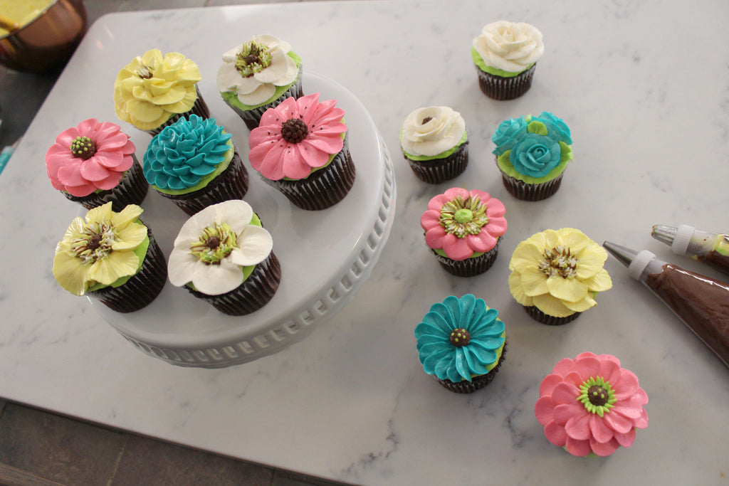 Collection 2: NEW! Floral Cupcakes Featuring Rose Tips