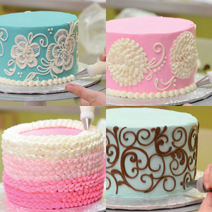 Collection 1: White Flower Cake Shoppe Buttercream Piping Techniques Video Tutorial