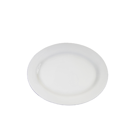 Oval White Rim 12 inch   - Platters