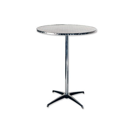 Party Rental Products Stainless Steel 32 Inch Round Table