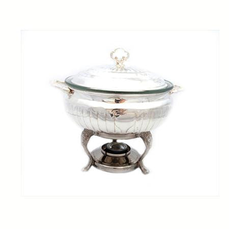Party Rental Products 3qt Round Silver Chafer Chafers