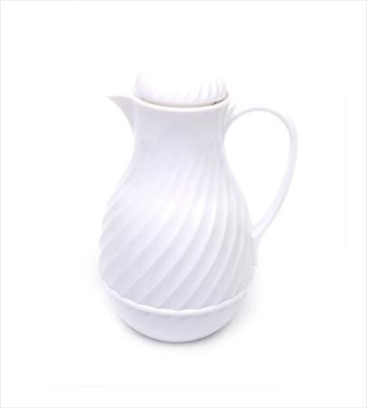 Coffee White Thermal Pitcher 44 Ounce