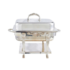 Silver Chafer 4qt Square