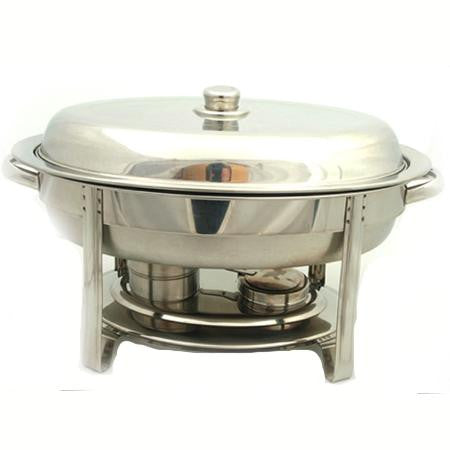Oval SS Chafer 6 qt