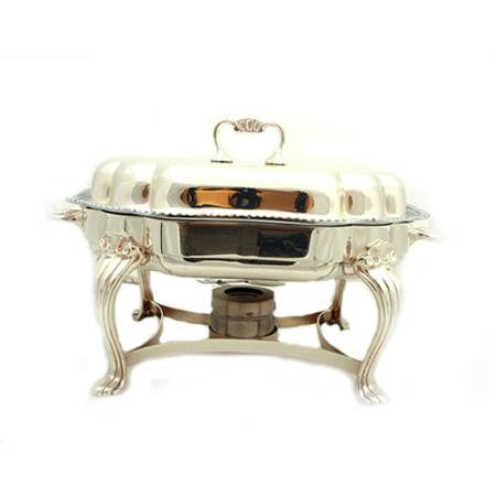 Silver Chafer Scalloped 6 QT