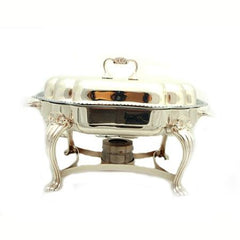 Party Rental Products 6 qt Scalloped Silver Chafer Chafers