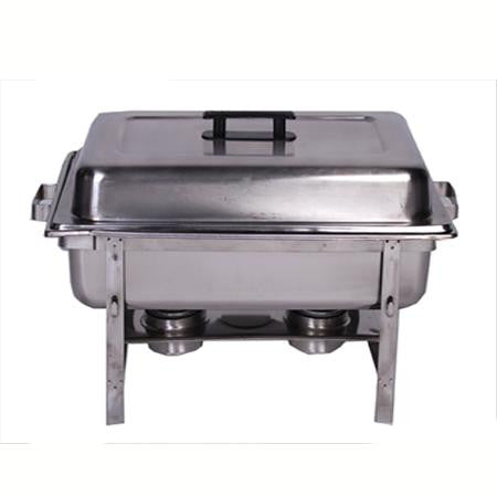 Party Rental Products 8 qt Rectangular Stainless Chafer Chafers