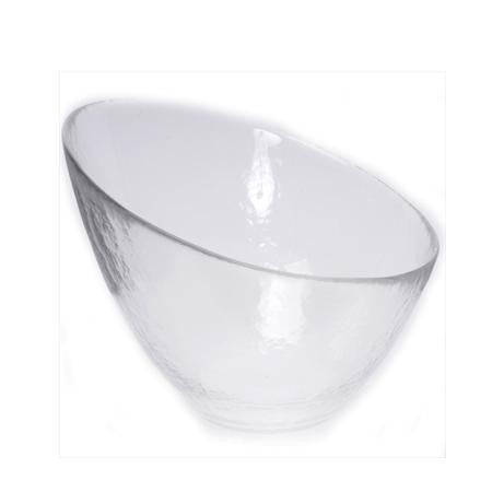 Party Rental Products Angled Bowl 12 inch  Hammered Bowls