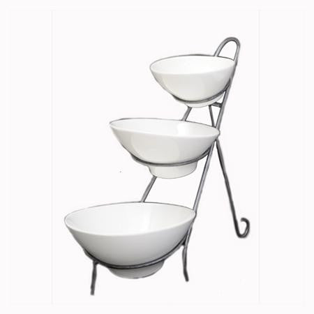 Party Rental Products Angled Bowl Stand Bowls
