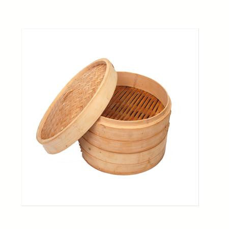 Party Rental Products Bamboo Steamer, 3 Section Cooking