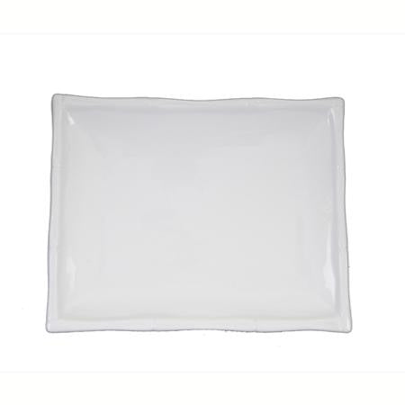 Bamboo White Rectangle Plate 6x9